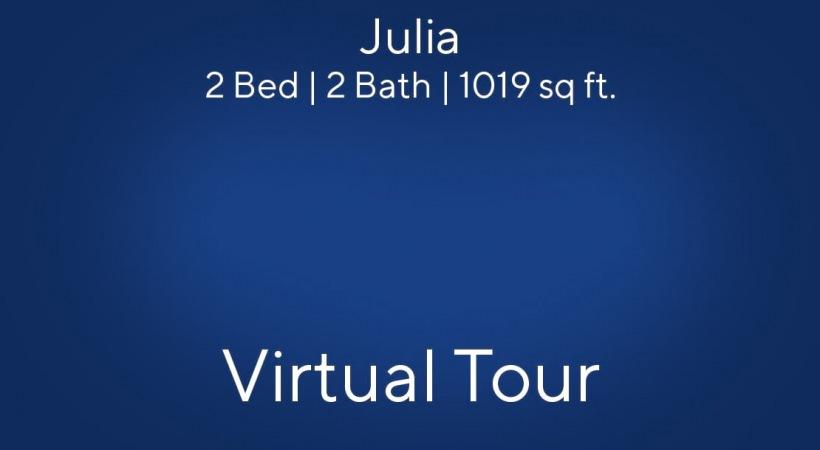 Julia Floor Plan, 2bed/2bath, 1019 sq ft