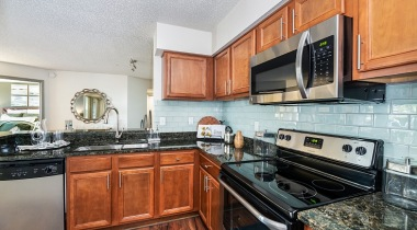 Kitchen with granite countertops at our luxury apartments in Casselberry, FL