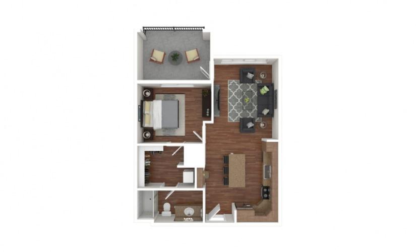 Crowe 1 bedroom 1 bath 711 square feet