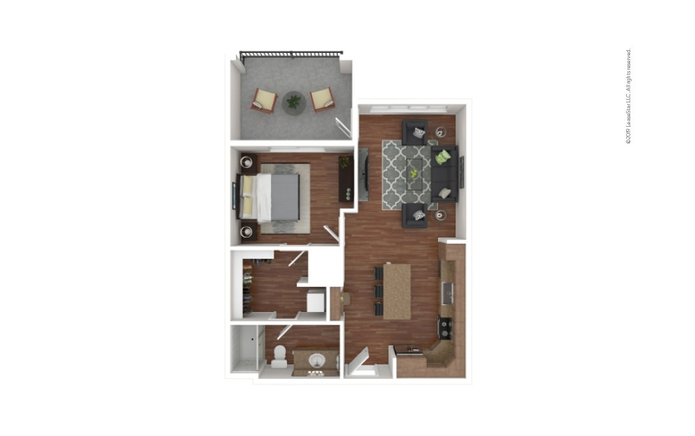 Crowe 1 bedroom 1 bath 711 square feet