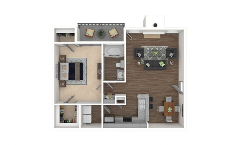 Legacy West 1 bedroom 1 bath 856 square feet