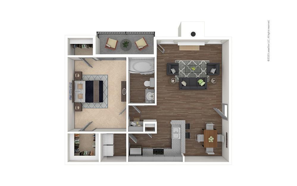 Legacy West 1 bedroom 1 bath 856 square feet