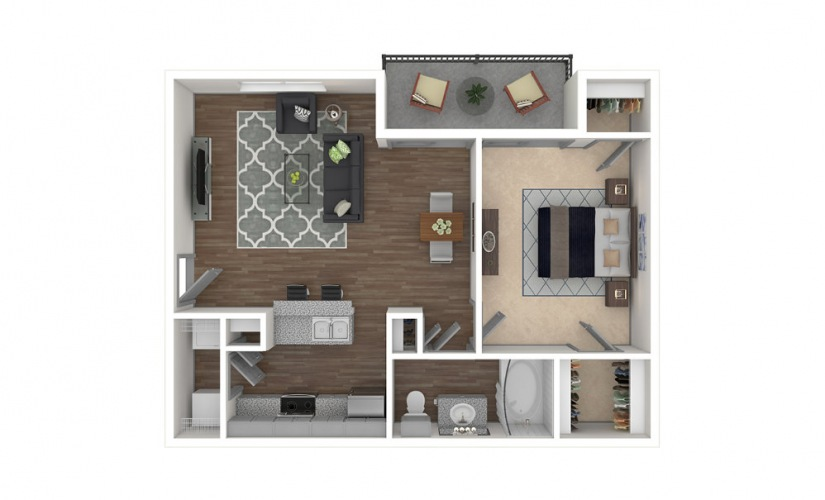 Legacy 1 bedroom 1 bath 722 square feet
