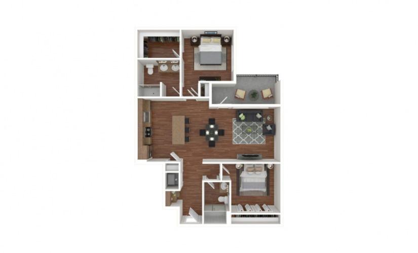 Lorilard 2 bedroom 2 bath 1166 square feet