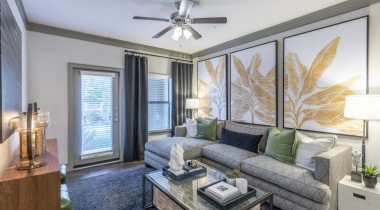 Luxury apartment living room at Cortland Seven Meadows