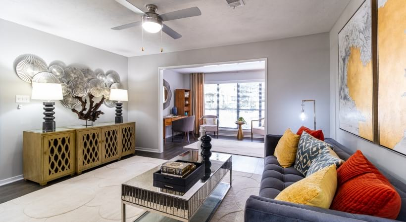 Spacious apartment floor plan at Viridian by Cortland