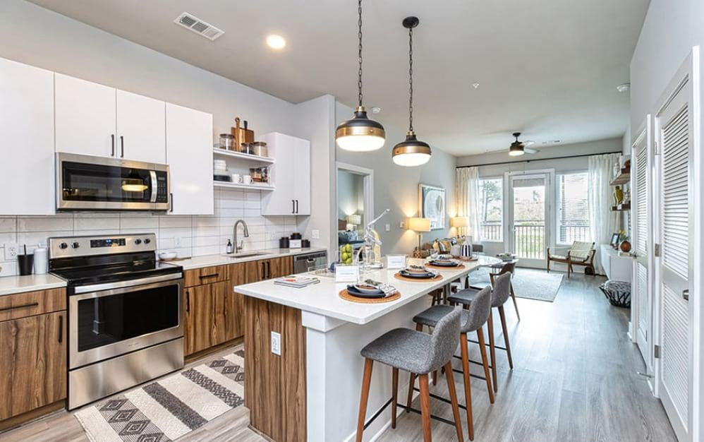 Kitchen with Island in Meadowsweets Floor Plan