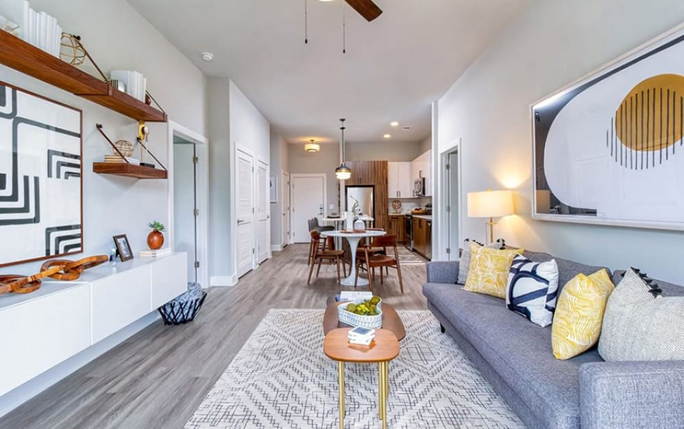 Living Room with Hard Flooring in Meadowsweets Floor Plan