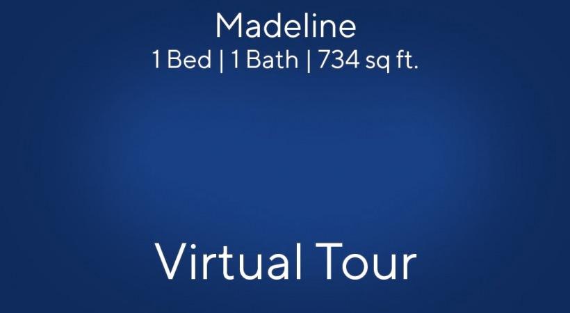 Madeline Floor Plan, 1bed/1bath, 734 sq ft