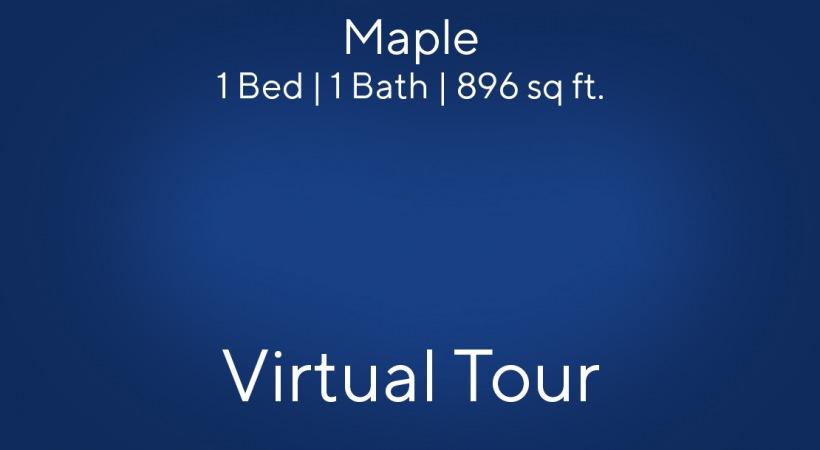 Maple Floor Plan, 1bed/1bath, 896 sq ft.