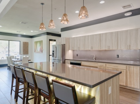 Resident clubhouse with party ready kitchen