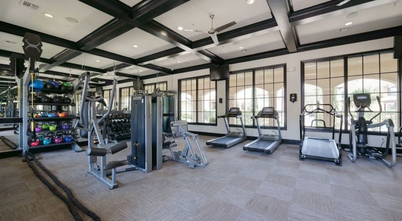 Apartment gym at Cortland Lakemont in Richmond, TX