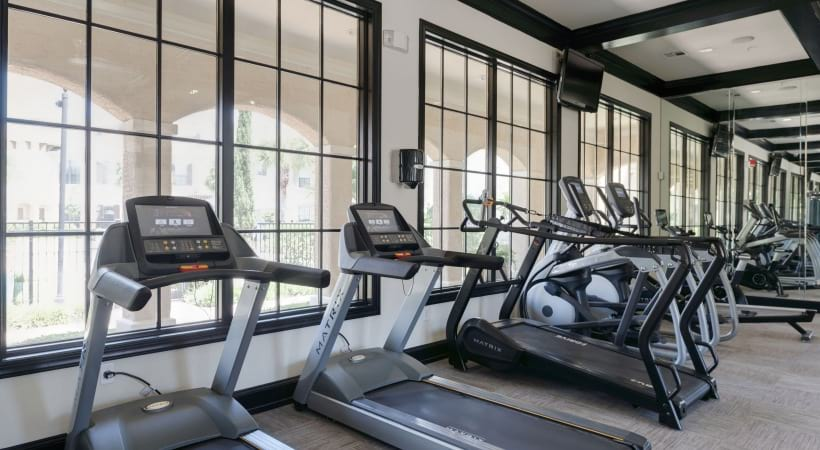 Cinco ranch apartment fitness center at Cortland Lakemont