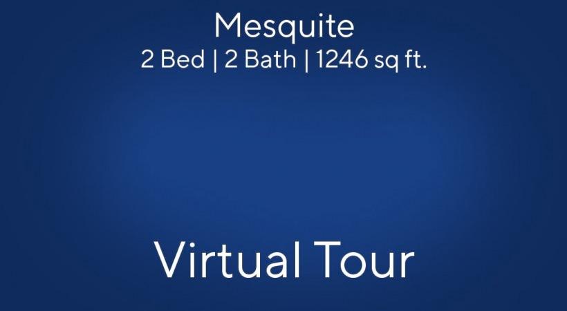Mesquite Floor Plan, 2bed/2bath, 1246 sq ft