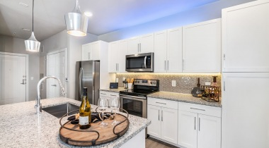 Luxury apartment kitchen in Kissimmee, FL