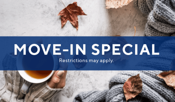 $1000 off three bedrooms, $500 off select two bedrooms, PLUS $0 app/admin fee when you move-in before 12.31.19.