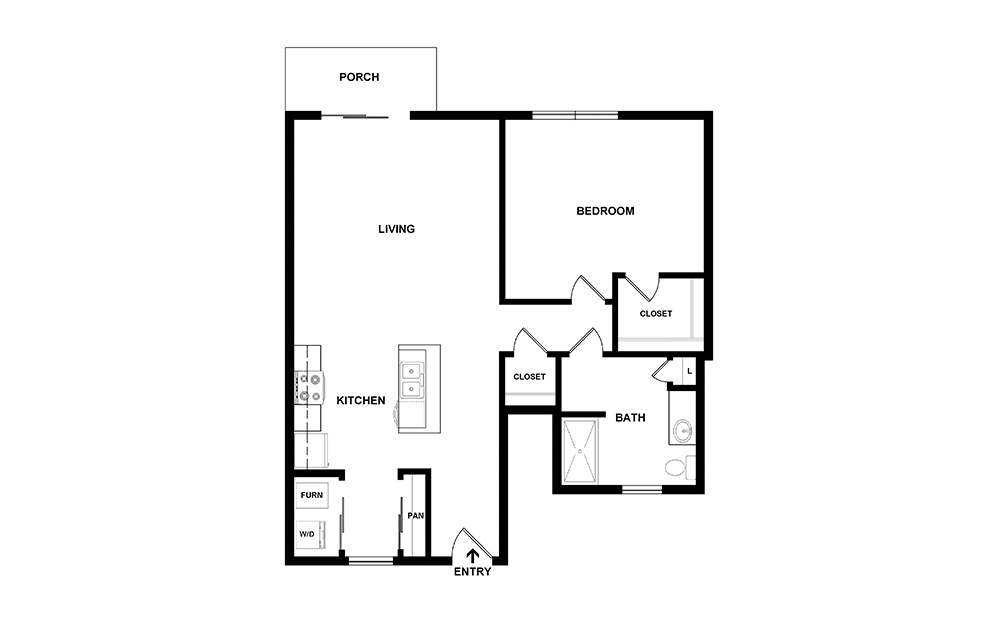 Arbor I first floor layout | Northlake Summit