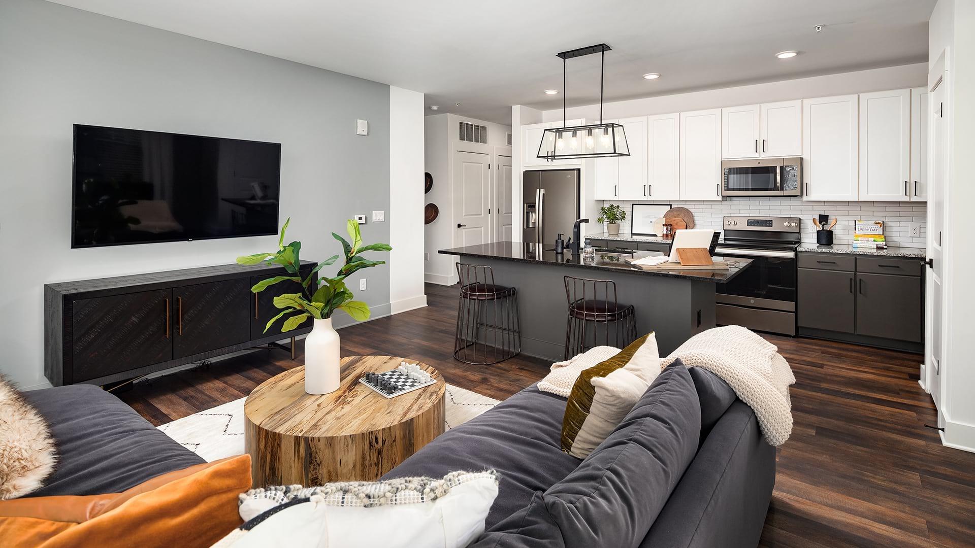 Hardwood Floors in Living Room | Cortland West Nashville