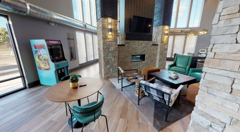 Resident Clubhouse With HDTVs at Our Apartments by Cortland