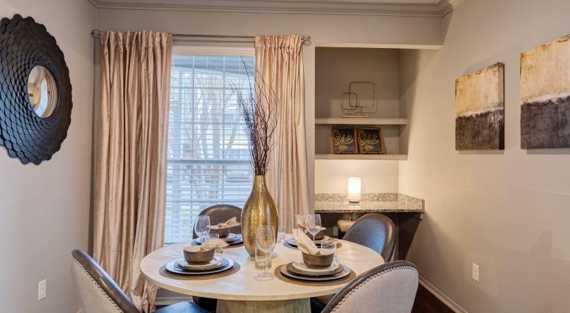 Apartment dining area at Cortland at RTP near Durham