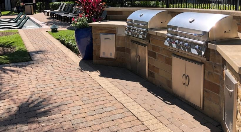 Outdoor Grilling Stations Near Our Resort Style Pool