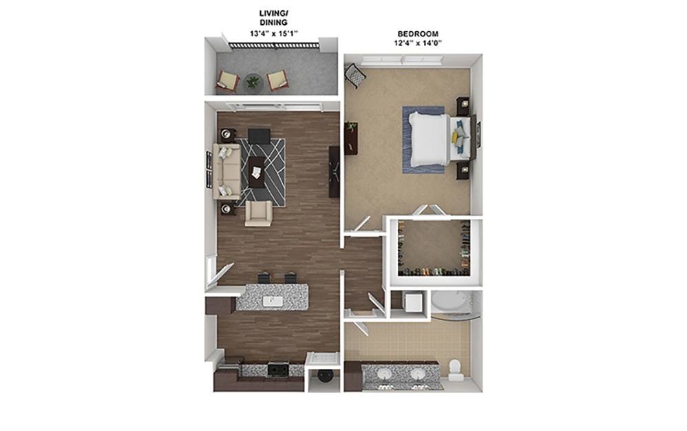 A1 Furnished Rendering | Hollywood