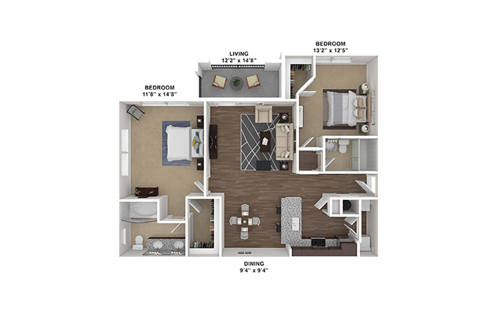 B1 Furnished Rendering | Hollywood