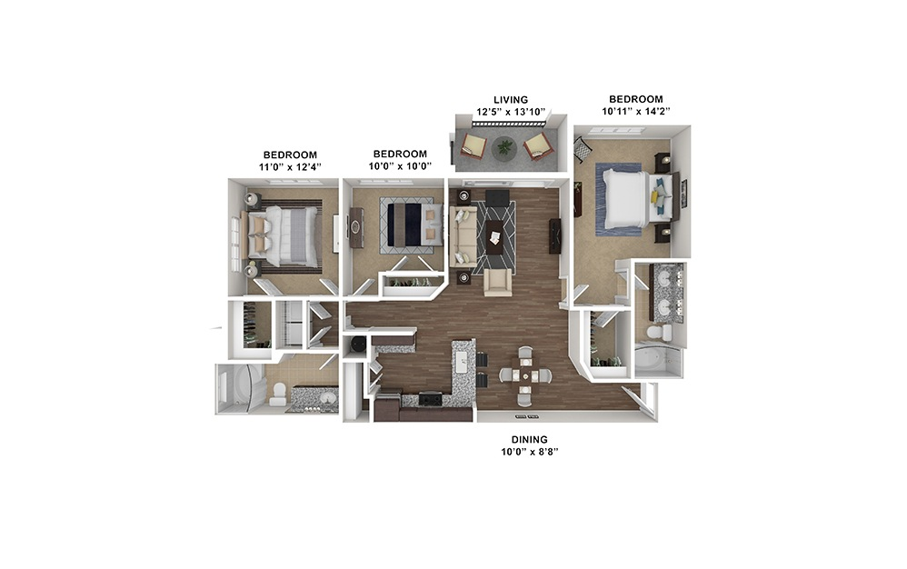 C1 Furnished Rendering | Hollywood