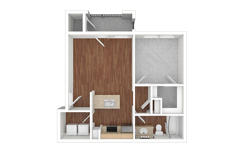A2 Unfurnished Rendering | Paseo