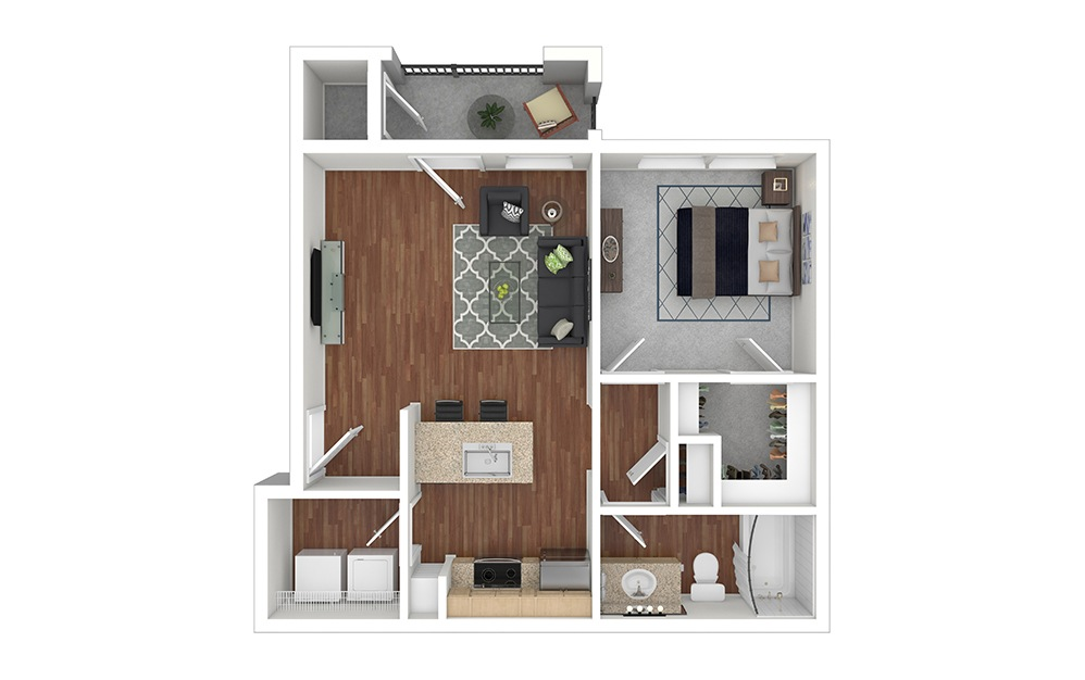 A2 Furnished Rendering | Paseo