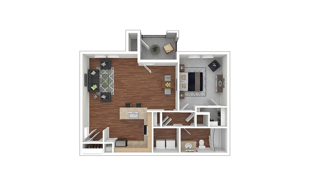 A4 Furnished Rendering | Paseo