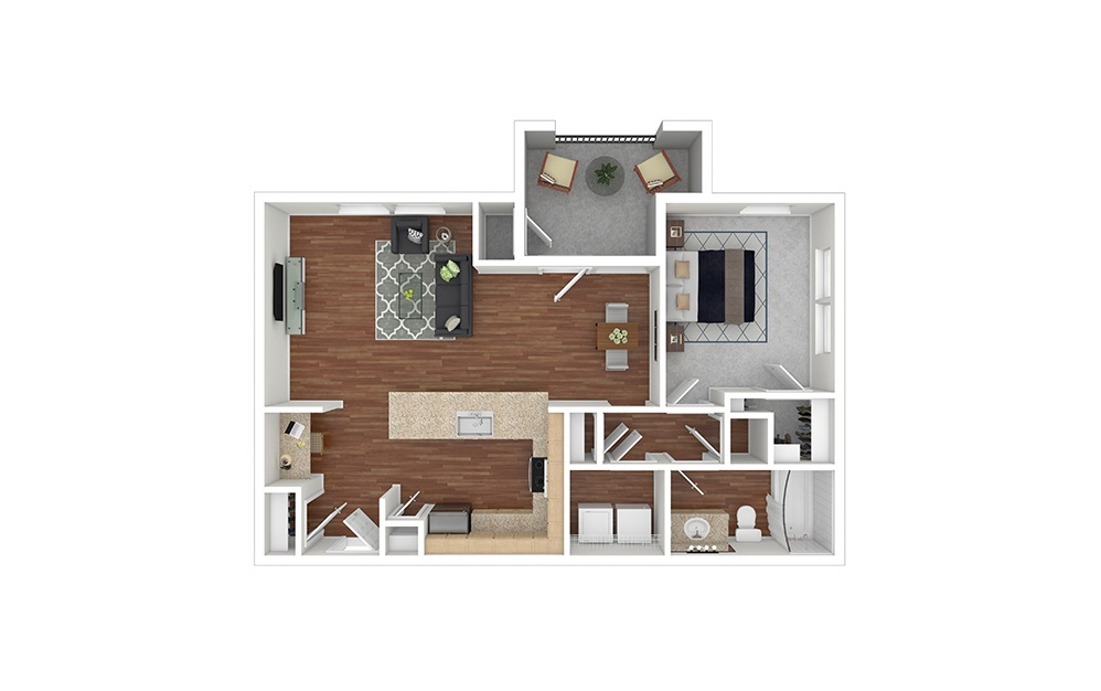 A5 Furnished Rendering | Paseo