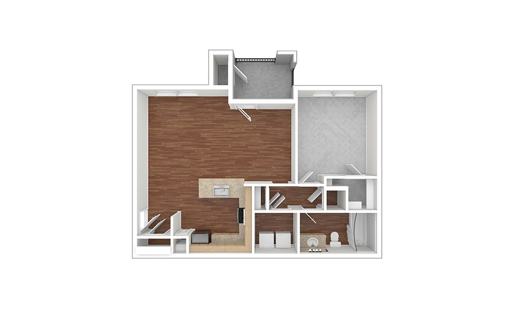 A4 Unfurnished Rendering | Paseo