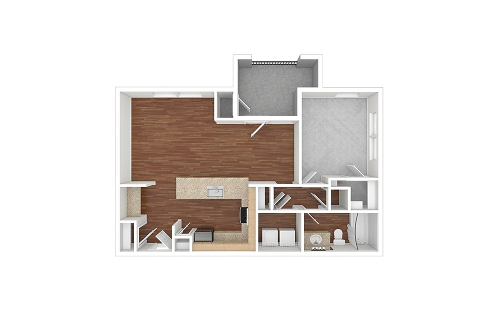 A5 Unfurnished Rendering | paseo