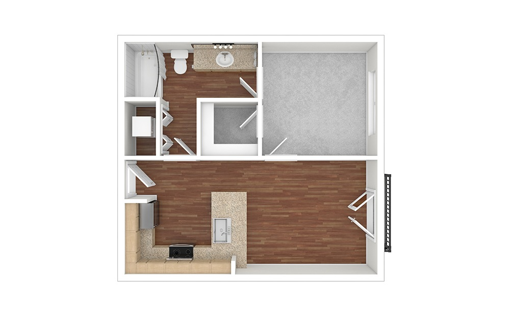 A1 Unfurnished Rendering   Paseo