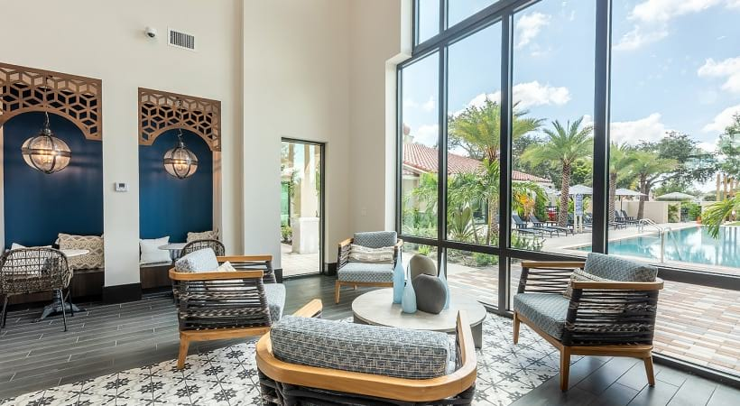 Resident lounge at West Palm Beach apartments