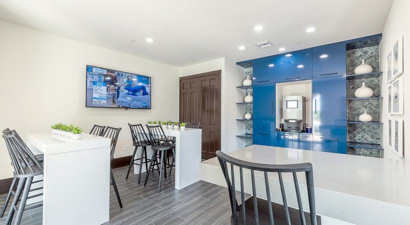 Complimentary coffee bar at West Palm apartments