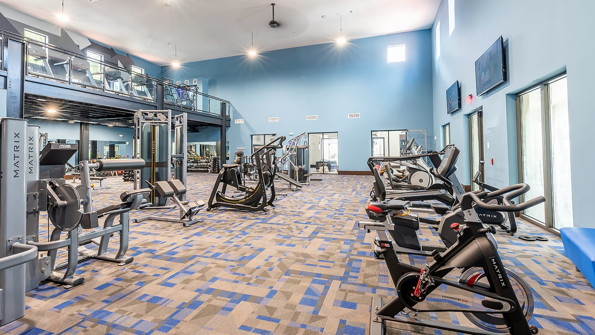 Fitness center at apartments for rent in West Palm Beach