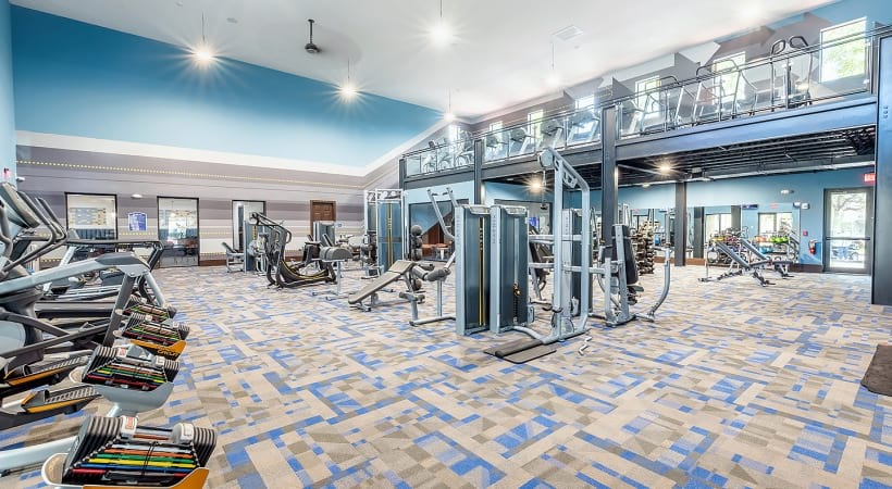 Two-story fitness center at West Palm Beach apartments