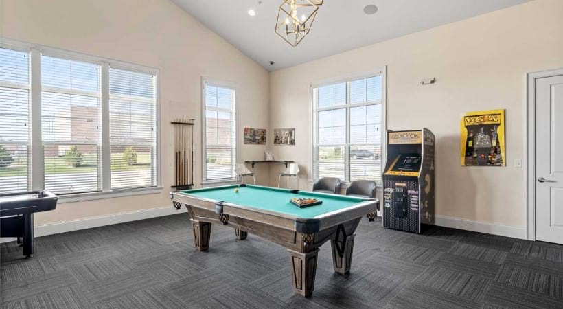Game room at Powell Grand Apartments
