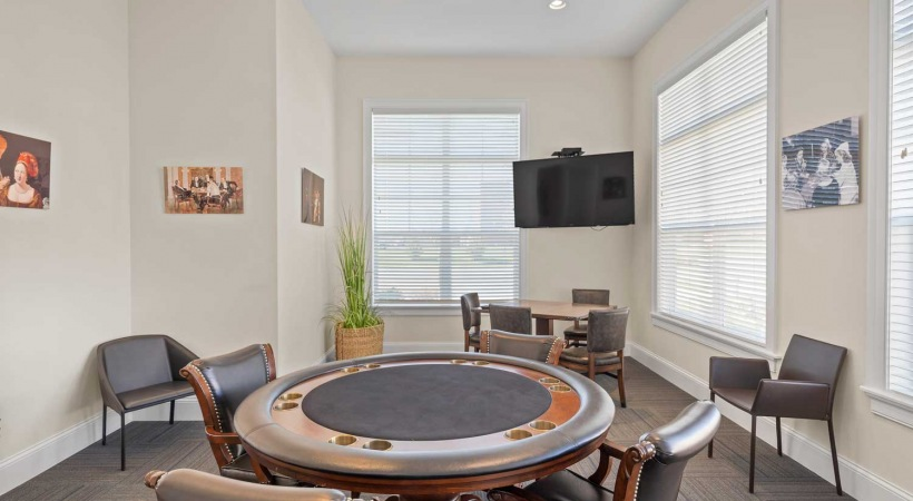 Poker Table at Powell Grand Apartments