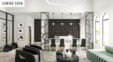 Resident lounge at Arbor Hills apartments