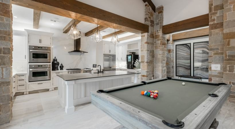 Resident clubhouse with pool table at our apartments near Medical Center in San Antonio