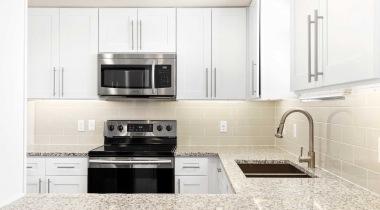 Sleek Granite Countertops at Cortland at Raven Apartments