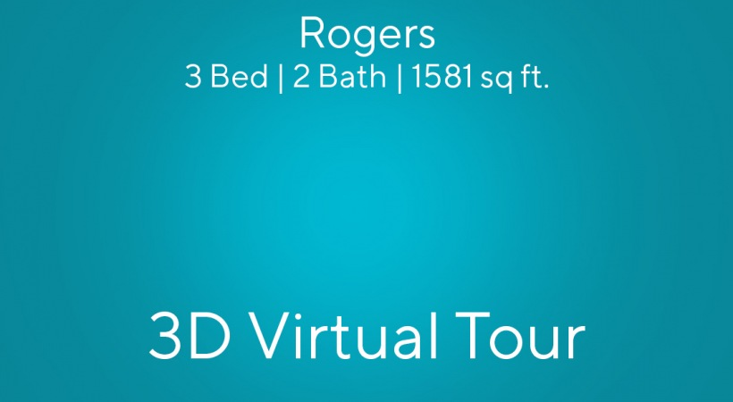 """This virtual apartment tour of our 3 bedroom apartment in Charlotte, NC shows you the """"Rogers"""" floor plan"""