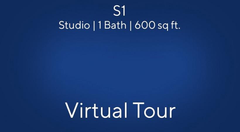 S1 Virtual Tour   Studio/1 Bath