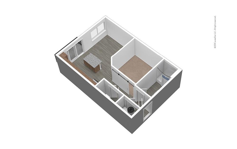 S1 Unfurnished 3D Floor Plan