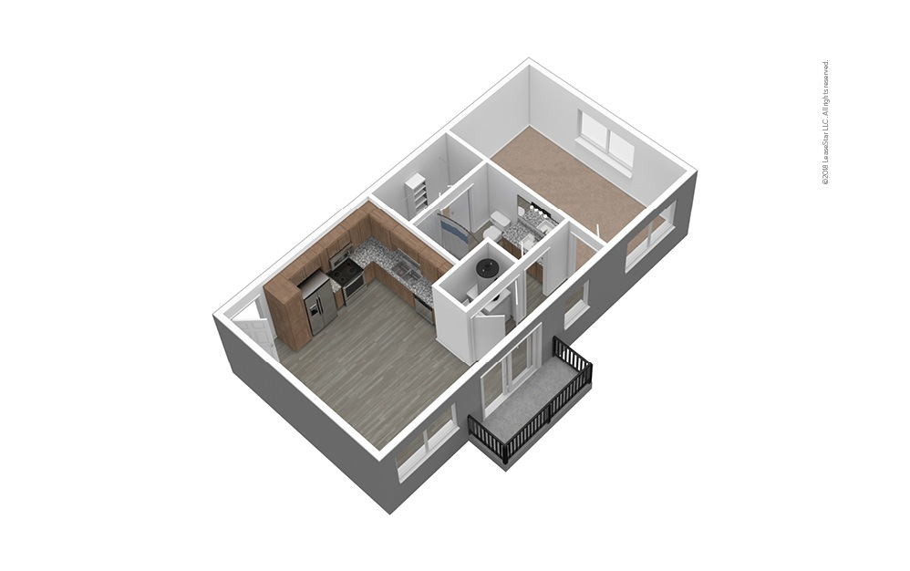 S2 Unfurnished 3D Floor Plan