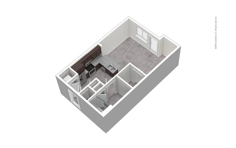 S2 Studio 1 Bath Unfurnished Floorplan