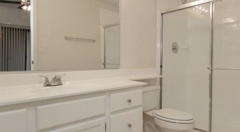 Deep-Soaking Bathtubs and Walk-In, Glass-Door Showers *